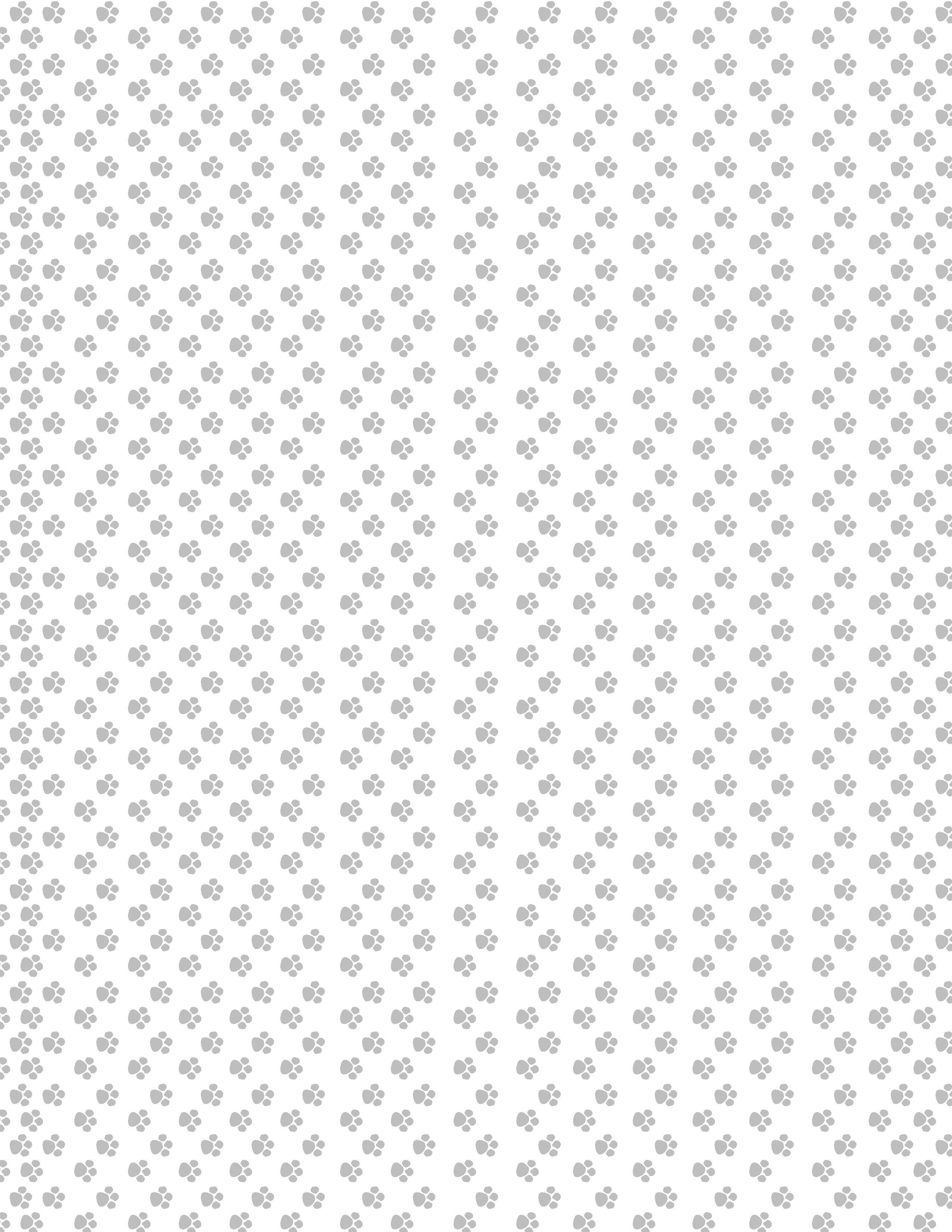 Paw Prints – Gray Background