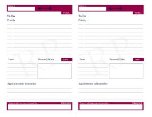 Daily View - Work/Life Balance Planner